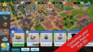 RollerCoaster Tycoon Touch Mod Apk Unlocked all item
