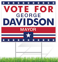 Mayor Political Lawn Sign Template | Lawnsigns.com