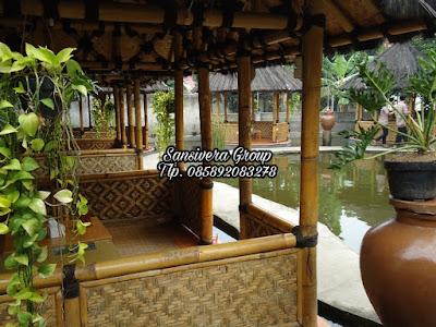 Saung Bambu Lesehan Tempat Makan