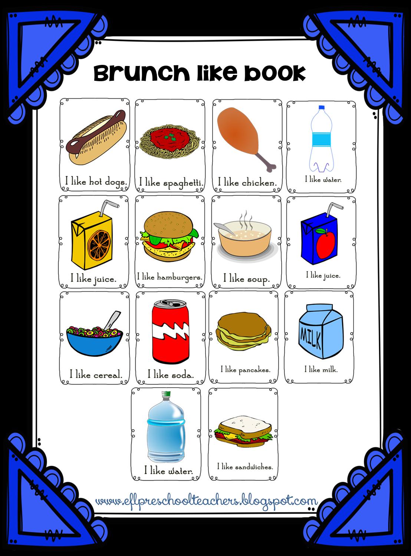 Esl Efl Preschool Teachers Brunch Breakfast And Lunch Theme