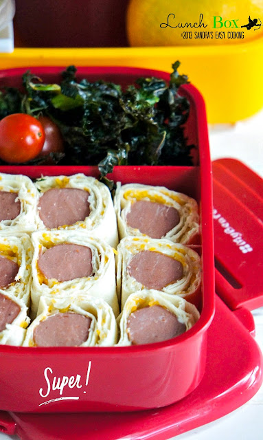 Easy recipe for Wrapped Chicken Hot-Dogs and Cheese Kale Chips