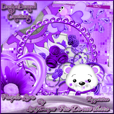 Purple Love - A Scrap Kit made by Trish Schaffer aka Lady Dragus