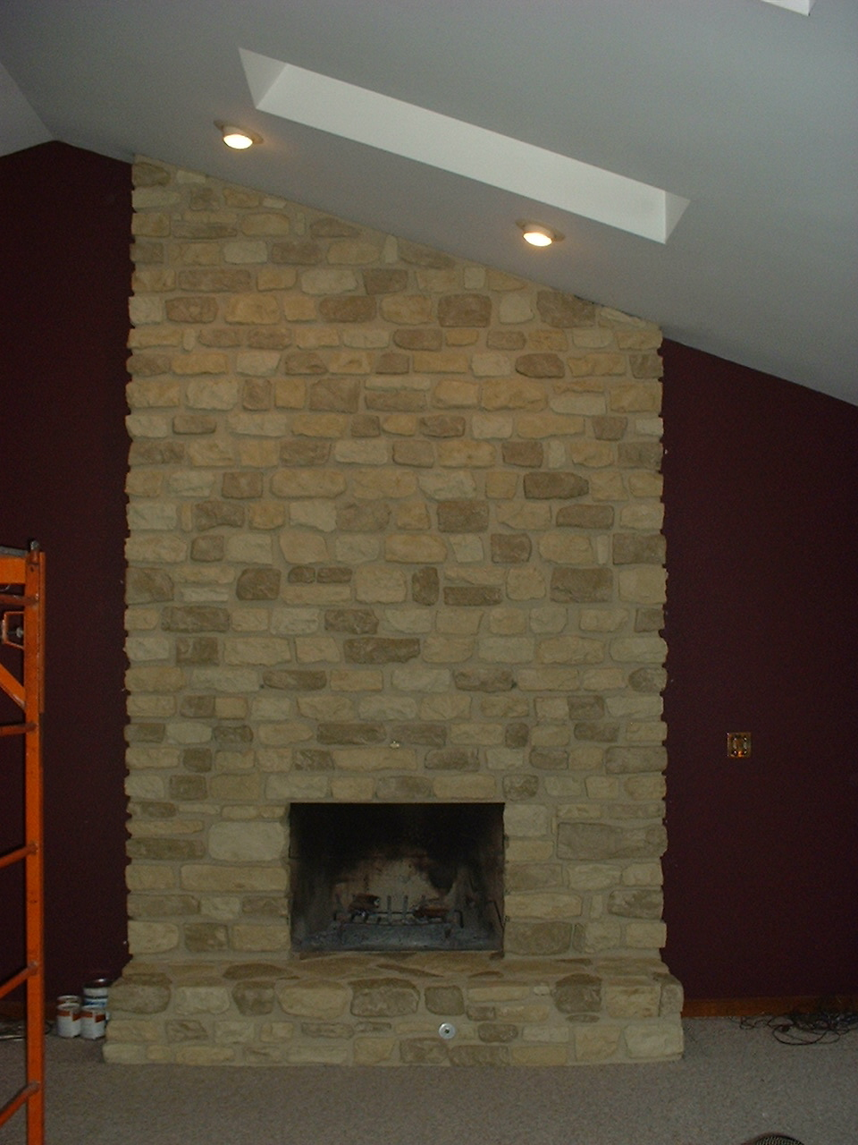 living in the 513 painting u0026 re painting a stone fireplace