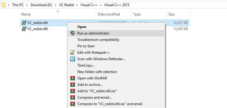 Run Admin Installer