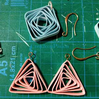 Tutorial-quilling-bisutería-pendientes-de-formas-geométricas-rosa-azul-y-verde-Crea2-con-Pasión