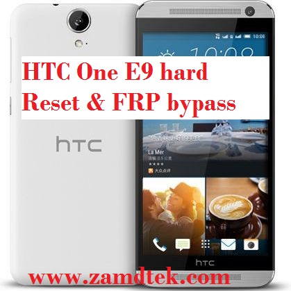 HTC One E9 frp bypass and google account reset
