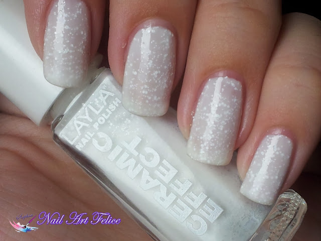 CE100 Snow Mousse - Ceramic Sorbet Effect Layla - Swatch01 - Nail Art Felice