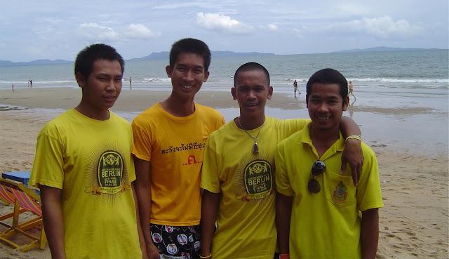 Beach attendants in gay beach, Jomtien, Pattaya