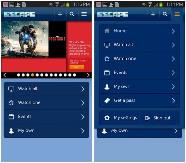 ESCAPE by Celcom, Your World of Entertainment, escape, entertainment apps, tech, telco, celcom, movie, iron man, selection