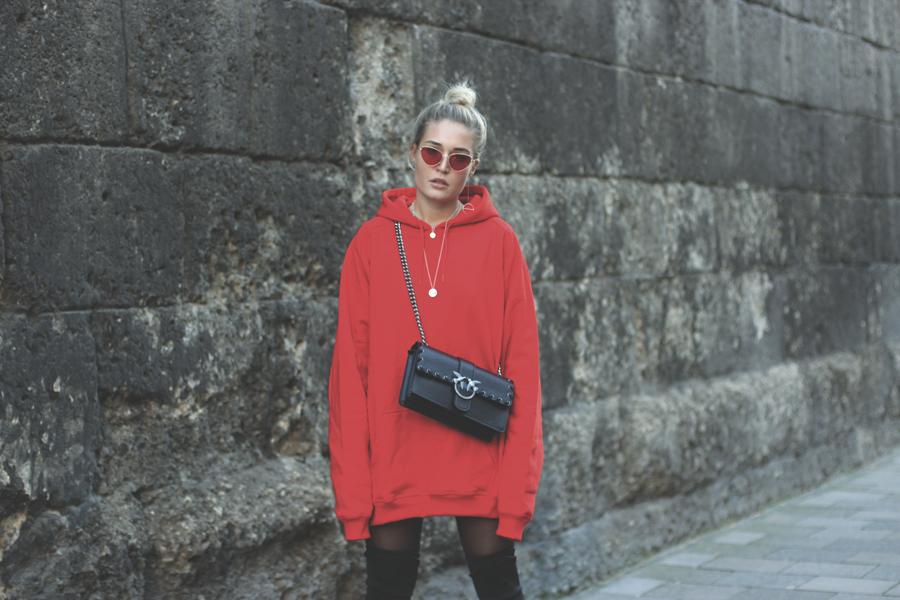 lauralamode outfit ootd look streetstyle hoodie sweatshirt pinko urban classics zara modeblog fashionblog blogger fashionblogger munich muenchen