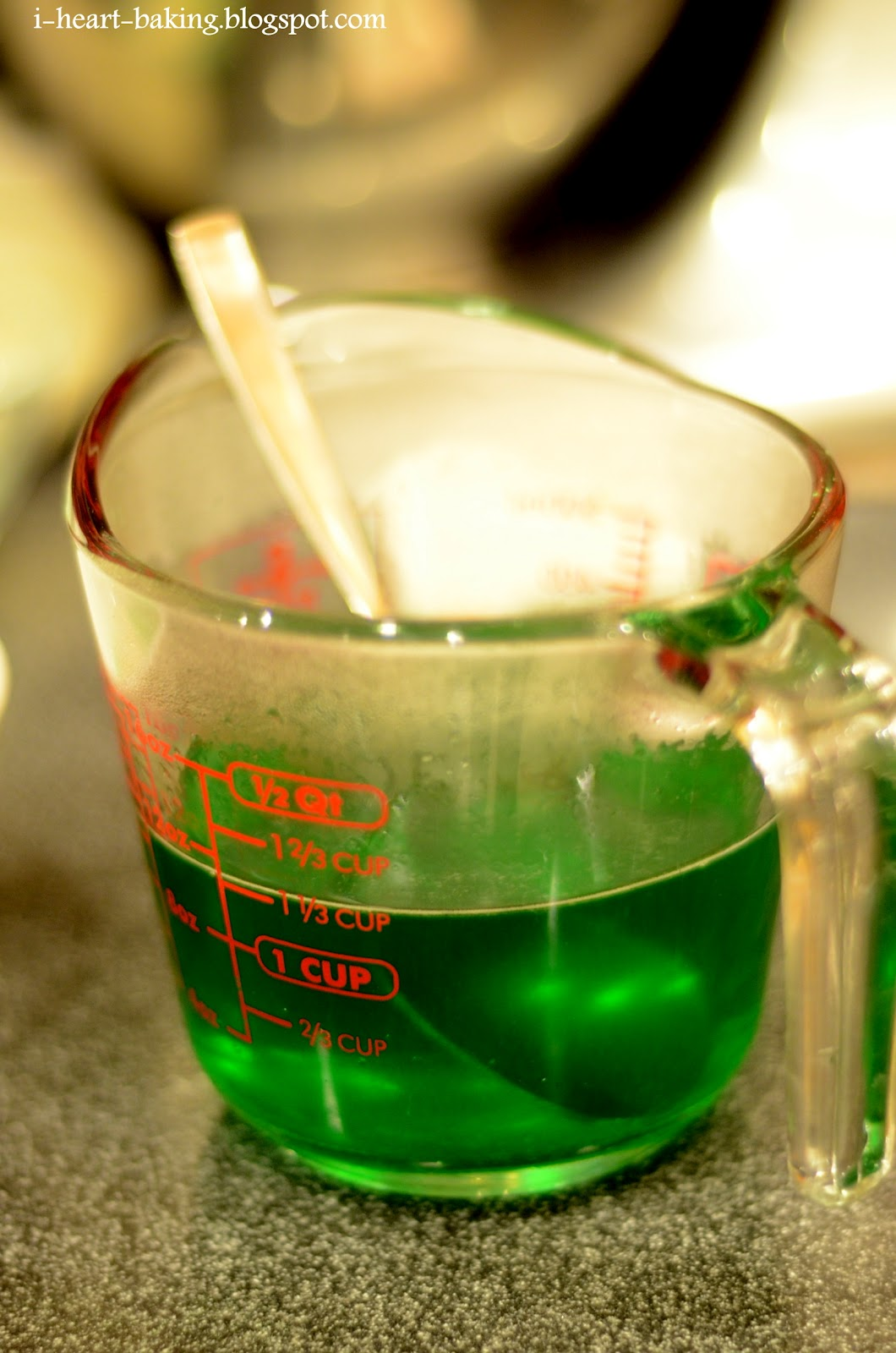 i heart baking!: lime green layer jello for st. patrick's day