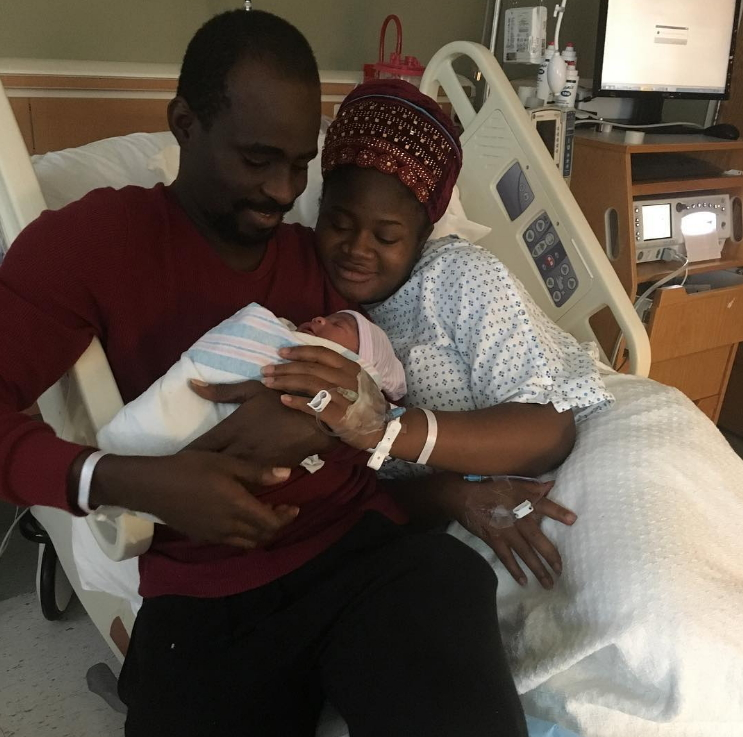 tunde owokoniran wife gives birth