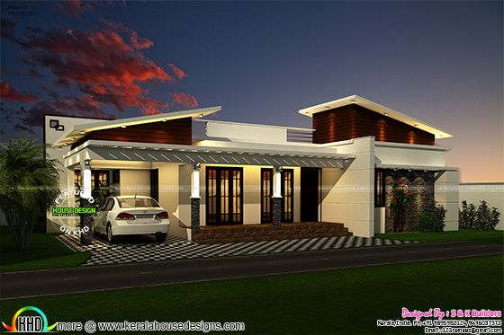 Contemporary look single floor 1200 sq-ft