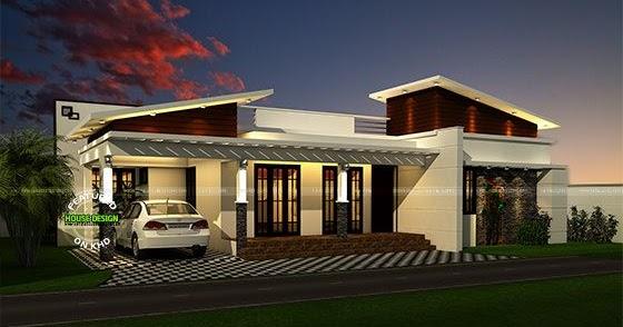 Contemporary Look Single Floor 1200 Sq Ft Kerala Home