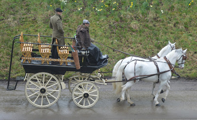 A Bus Trip to the Horses at War Event at Beamish - horse and cart