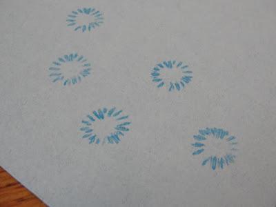 poppy seed pod stamping