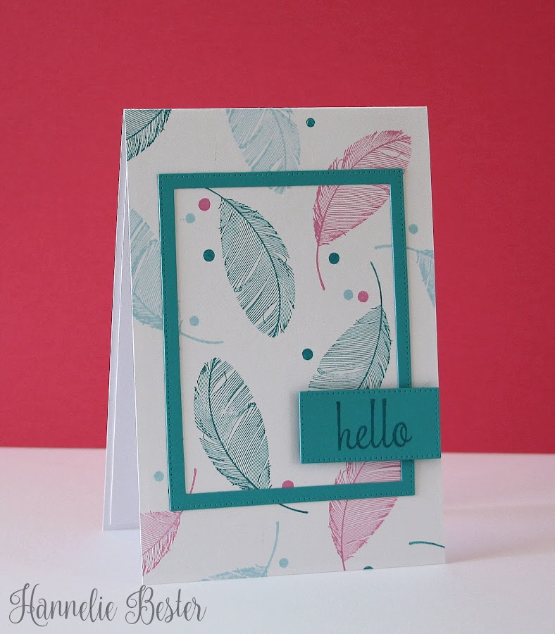 Feathery hello card
