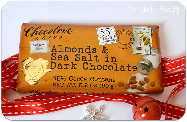 Compras iHerb - Chocolove - Almonds & Sea Salt in Dark Chocolate