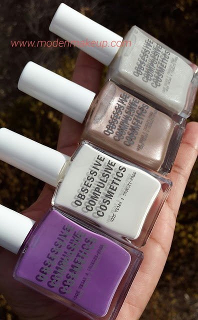 OCC nail polishes: 'Belladonna', 'Feathered', 'Sebastian' and 'Silence' - www.modenmakeup.com