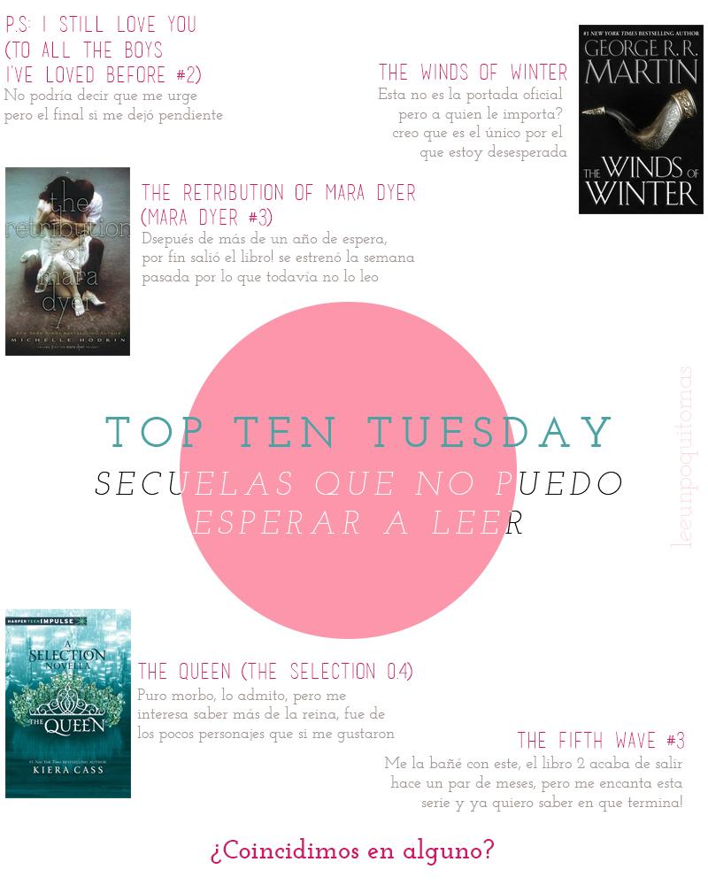 TTT: Secuelas que no puedo esperar a leer