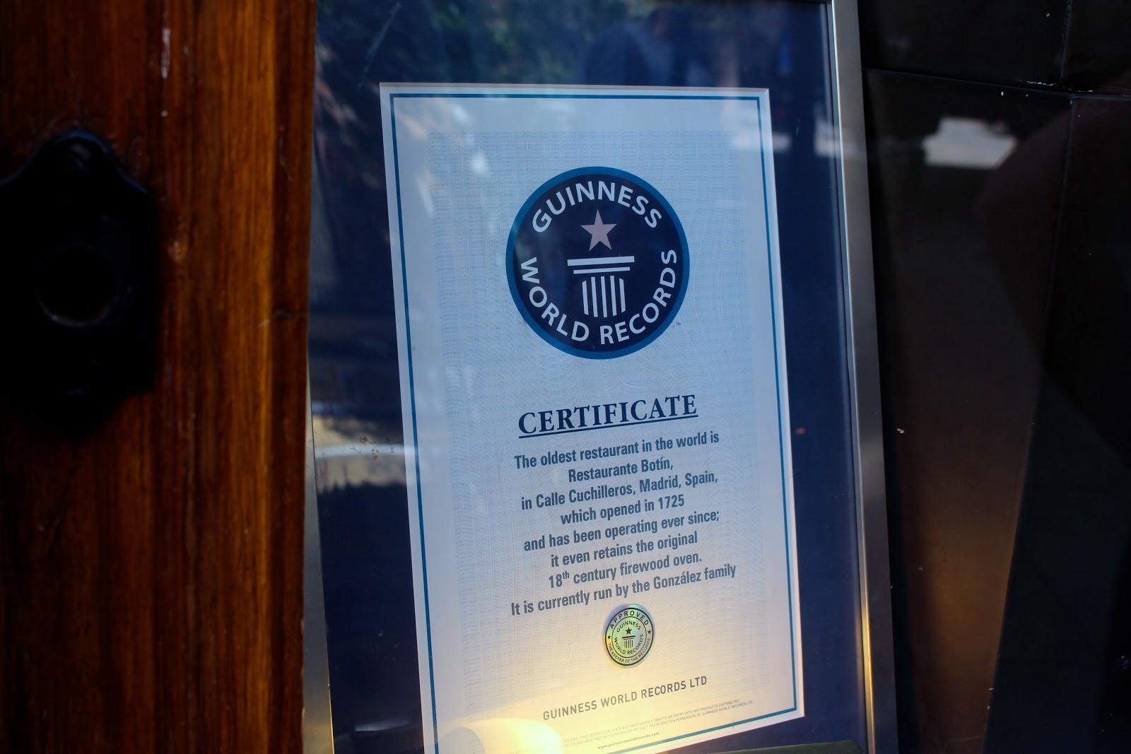 Oldest restaurant of the world