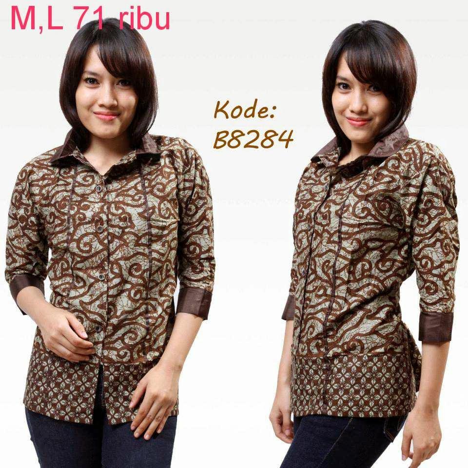 Trend Batik Kerja 2014: Macam-Macam Model Baju Batik Wanita