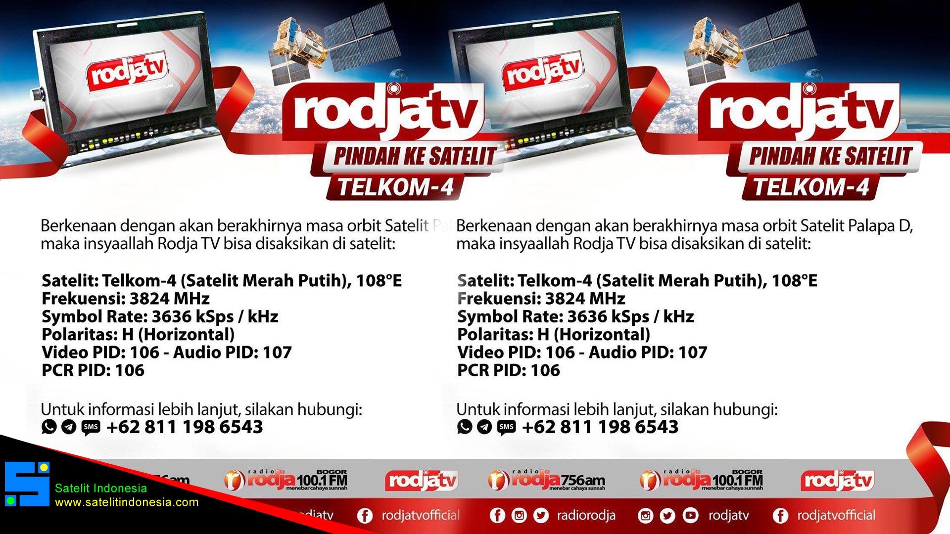 Rodja Tv Pindah Satelit Telkom 4 dari Palapa D