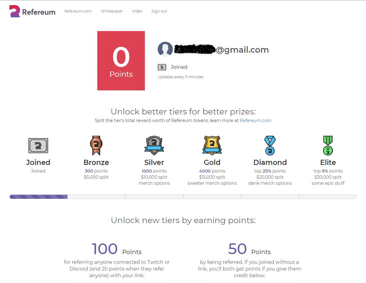 Hướng dẫn đăng ký Refereum nhận 500 points | Review Coin