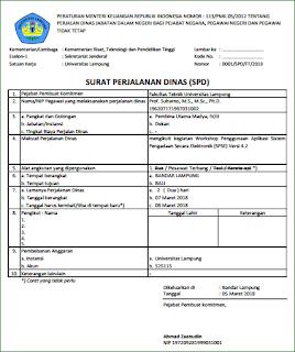 Aplikasi Excel SPPD dan Surat Tugas Versi 2