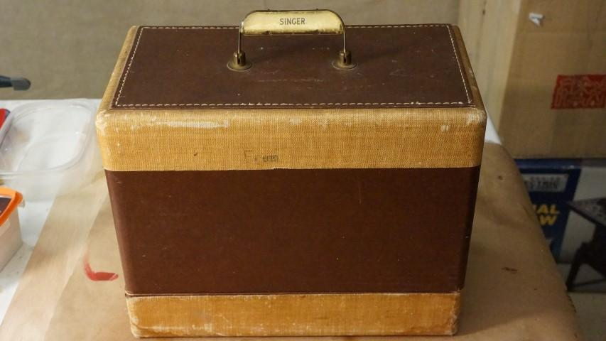 Old singer sewing machine cases