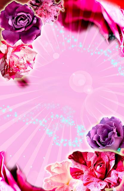 Tarjeta de Invitación elegante y novedosa para 15 años con rosas moradas y rosadas