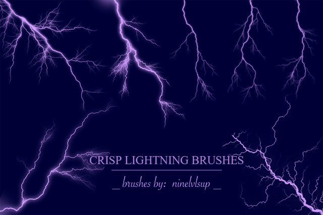 Crisp Lightning Brushes
