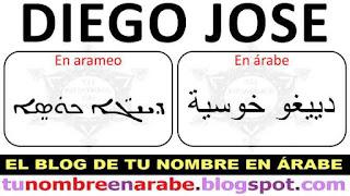 Escribir Diego Jose en arameo para Tatuajes