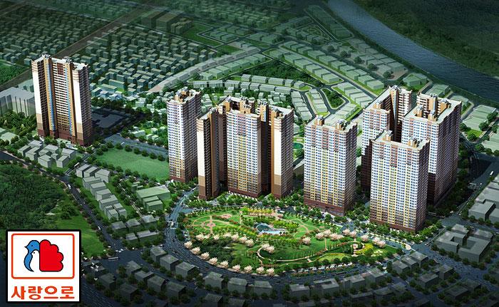 Phối cảnh Khu chung cư quốc tế Booyoung Vina - Mỗ Lao - Hà đông