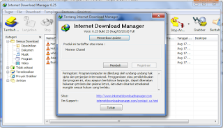 Cara Menmuat Internet Download Manager Menjadi Full Version