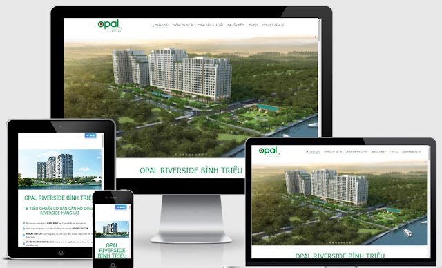 Template blogspot bất động sản Opal riveside