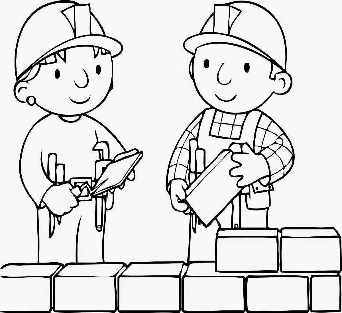 Colour Drawing Free Wallpaper Bob The Builder Coloring