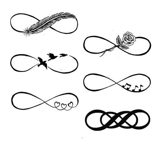 Awesome Infinity Tattoo Designs