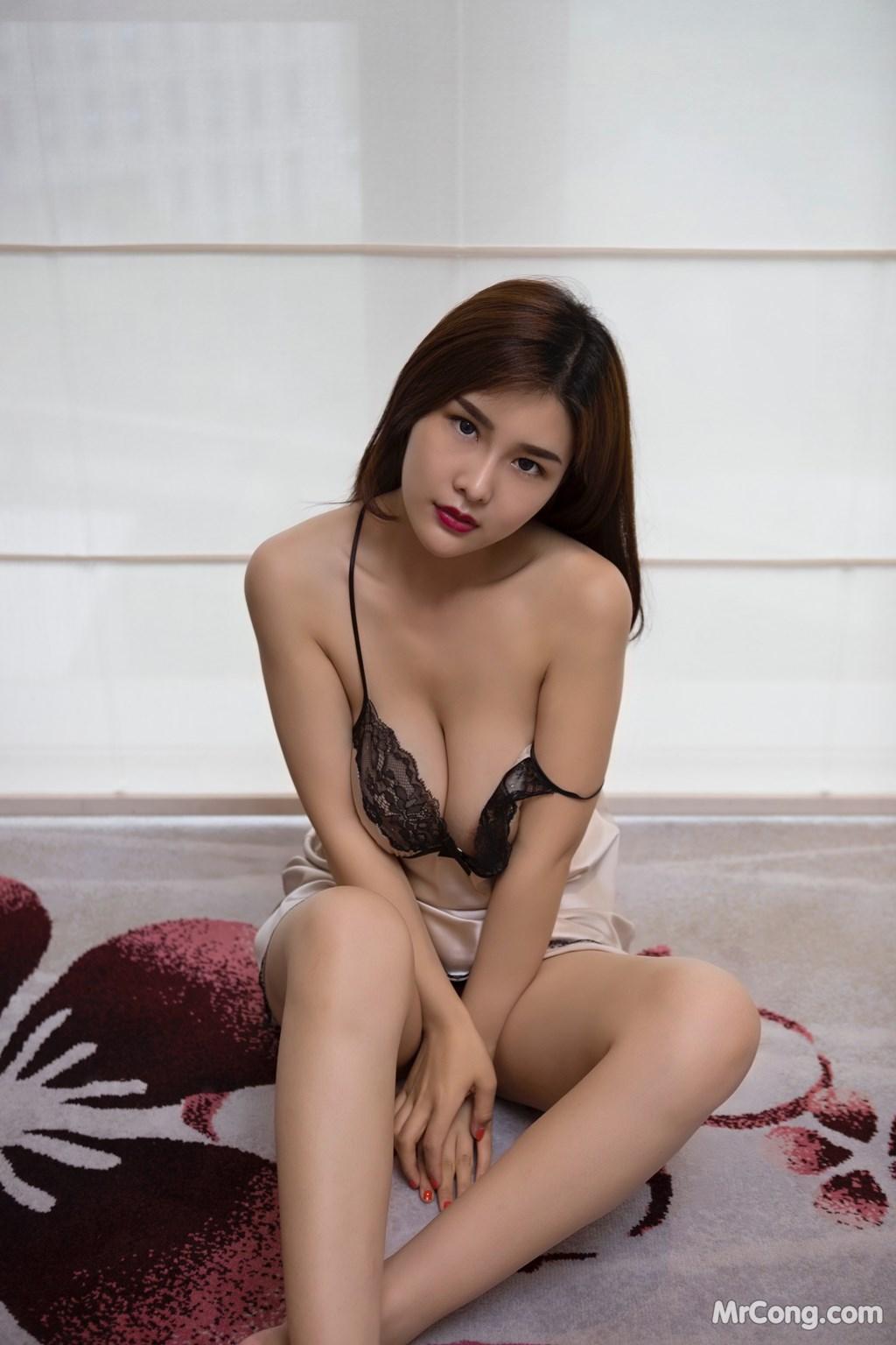 Image Yan-Pan-Pan-Part-5-MrCong.com-006 in post Ngắm người đẹp Yan Pan Pan (闫盼盼) khoe dáng sexy với váy ngủ (25 ảnh)