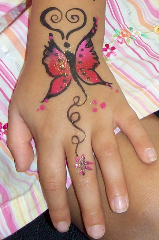 Butterfly Tattoo Designs on Hands