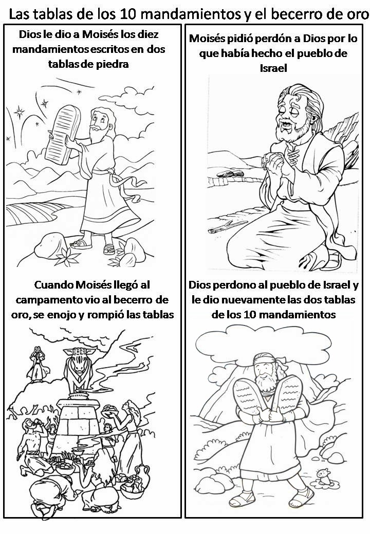 Fantástico Biblia Historia Para Colorear Moses Cresta - Dibujos Para ...