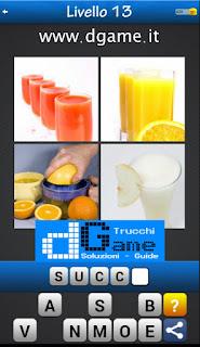 Trova la Parola - Foto Quiz con 4 Immagini e 1 Parola pacchetto 1 soluzione livello 13