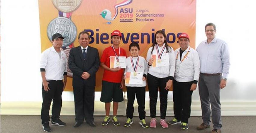 MINEDU y el IPD reconocen a delegación que participó en Juegos Sudamericanos Escolares Asunción 2019 - www.minedu.gob.pe