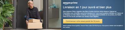 Livraison en 1 jour avec Amazon Prime