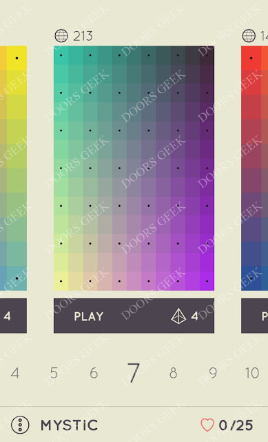 I Love Hue Mystic Level 7 Solution, Cheats, Walkthrough