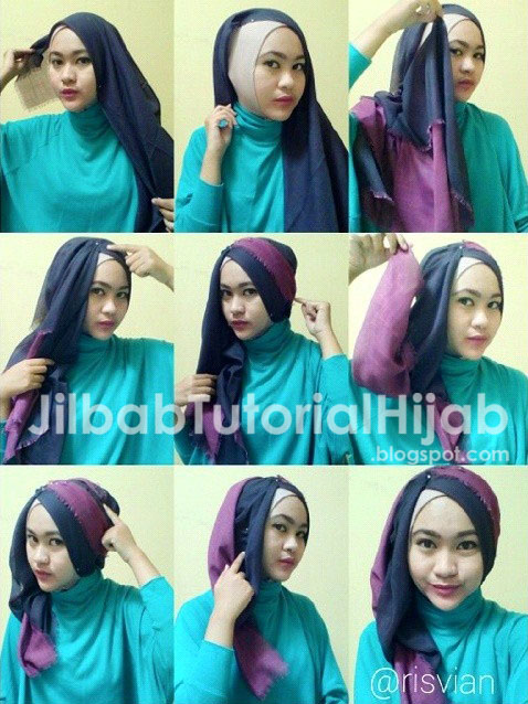 Tutorial Style Hijab Segi Empat 2016