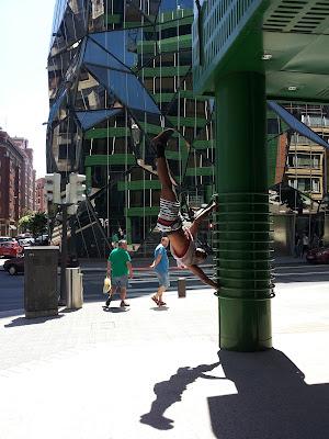 Flagging in Bilbao, Spain
