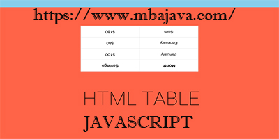 create a table dynamically with javascript