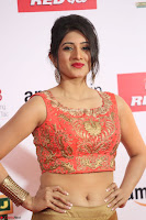 Harshika Ponnacha in orange blouuse brown skirt at Mirchi Music Awards South 2017 ~  Exclusive Celebrities Galleries 100.JPG