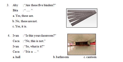 Contoh Soal PH 2 Bahasa Inggris Kelas 4 SD MI Tema 2 Things at school